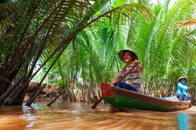 Výlet do delty Mekongu, My Tho, Vietnam