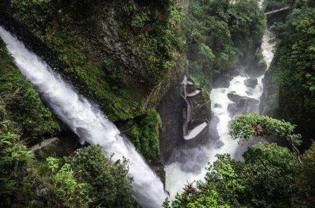 Vodopád Pailon del Diablo, Ekvádor