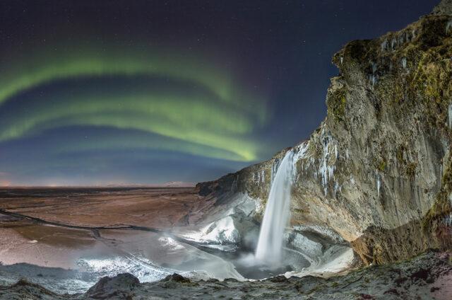 Vodopád Seljalandsfoss, Island