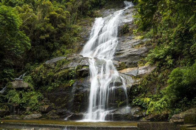 Vodopád v N.P. Tijuca, Rio De Janeiro, Brazílie