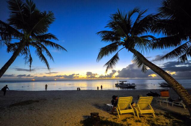 Západ slunce, Saipan, Mariany, USA