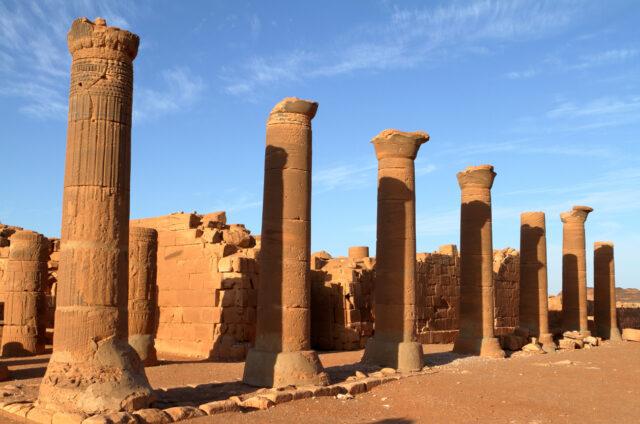 Zřícenina chrámu, Naga, Súdán