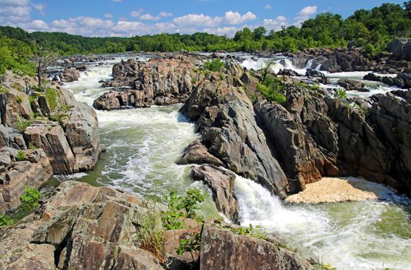 Velké vodopády na řece Potomac, USA