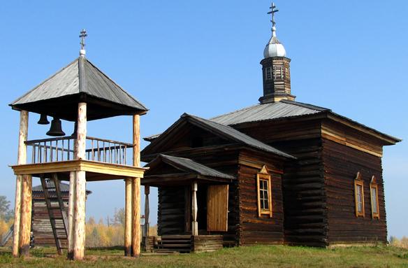 Skanzen Angarského kostela v Bratsku, Rusko