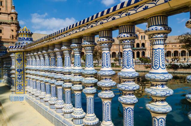 Zdobené zábradlí v Seville