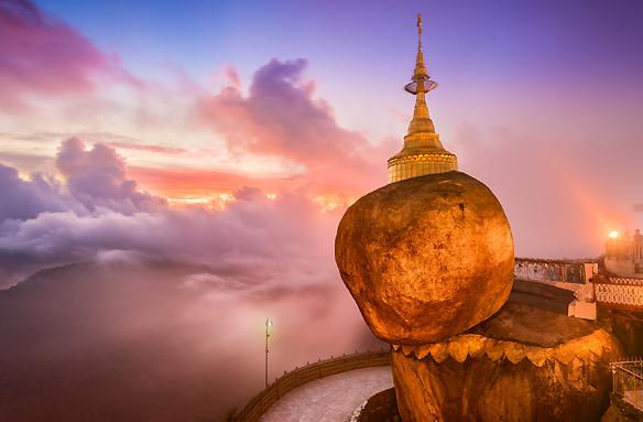 Stúpa na Zlatém viklanu, Kyaikto, Barma