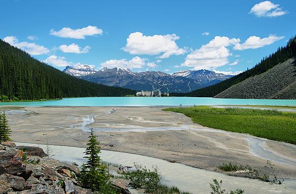 Jezero Louise v N.P. Banff, Aljaška, USA