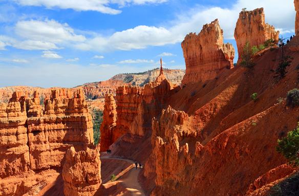 Pískovcové útvary v Bryce Canyon N.P., USA
