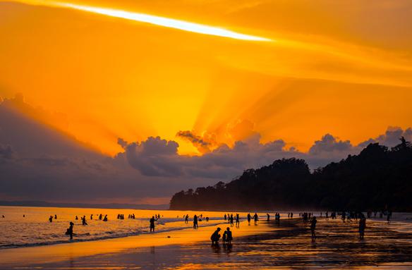 Pláž Radhanagar na Andamanech