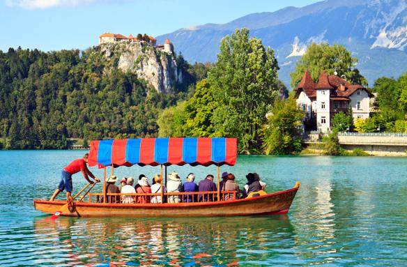 Bledské jezero s hradem, Slovinsko