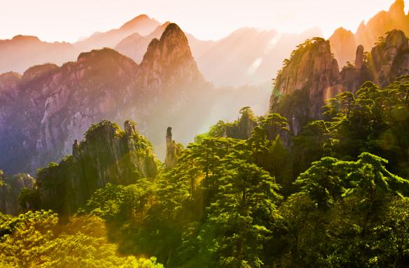 Pohled na Žluté hory, Čína