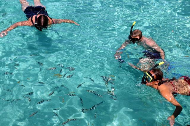 Šnorchlování na Sand Bank, Mamanuca, Fidži
