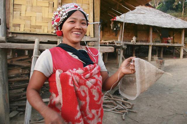 Žena horského kmene, Muang Long, Laos