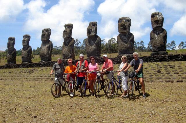 Ahu Akivi, cyklovýlet, Velikonoční ostrov