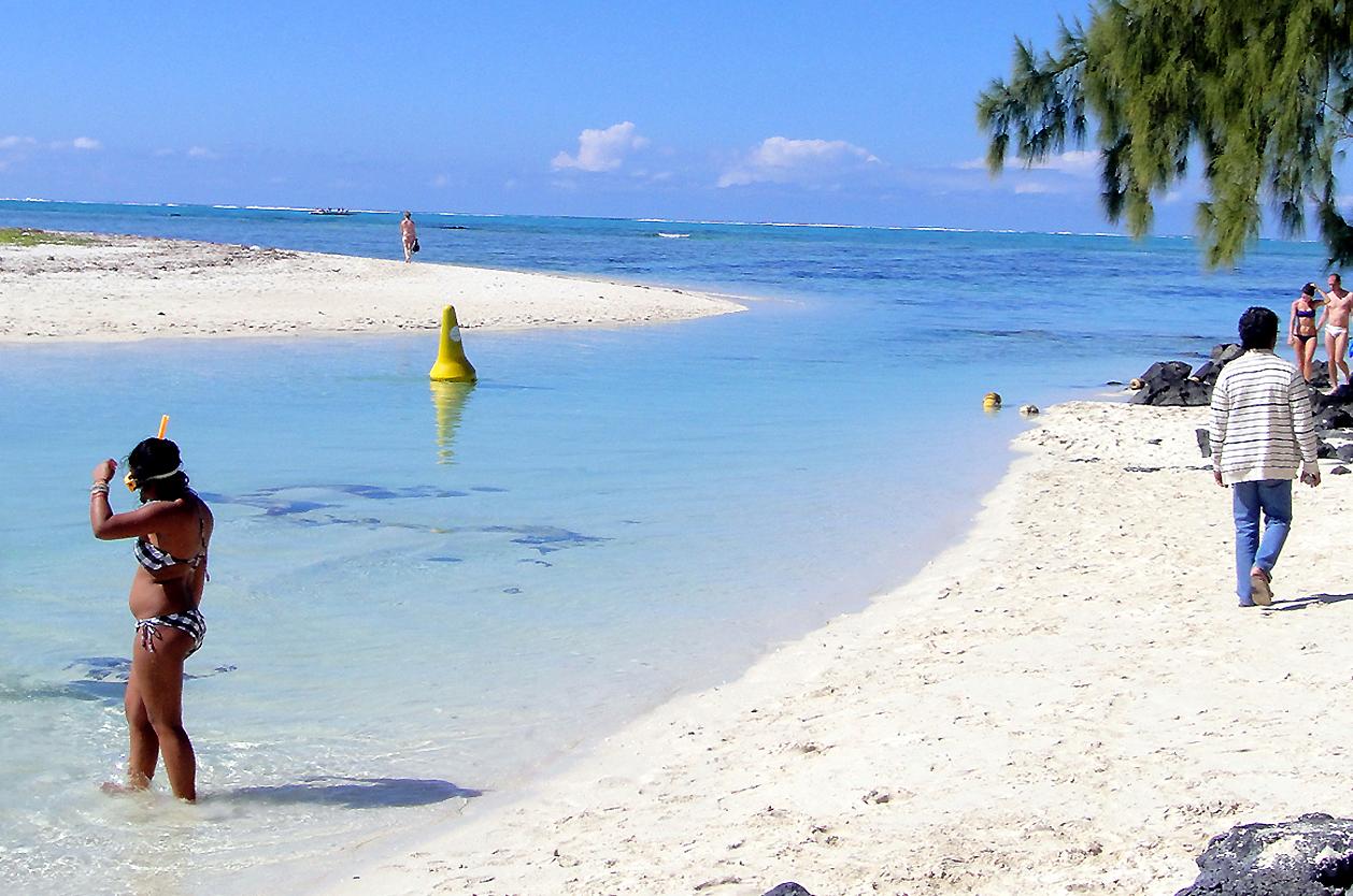 Bílé pláže, Ile aux Cerfs, Mauritius