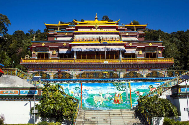 Barevný klášter Rumtek, Gangtok, Sikkim