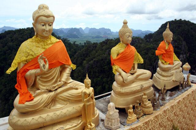 Buddhistický klášter, Krabi, Thajsko
