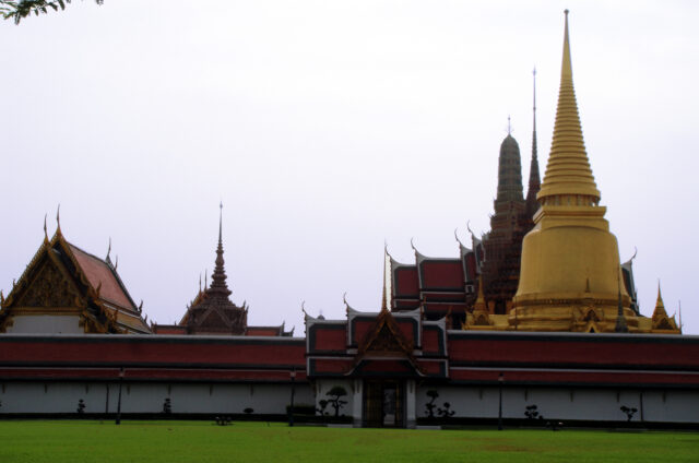 Chrám Wat Phra Kaew, Grand Palace, Bangkok, Thajsko