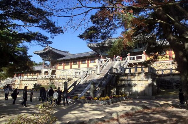 Chrámy v areálu Kjongdžu, Korea