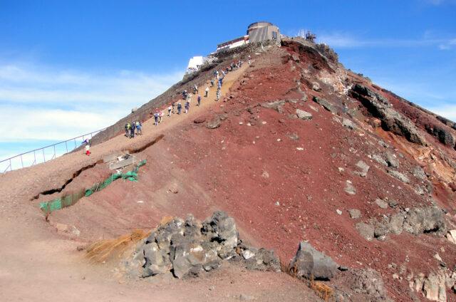 Fudži - nejvyšší bod kráteru, Japonsko