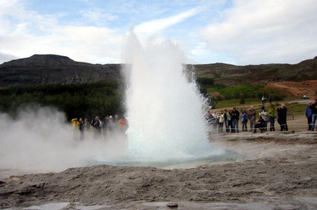 Gejzír Strokkur, Island