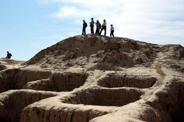 Hliněné pevnosti Toprak Kala, Kyzylkum, Uzbekistán