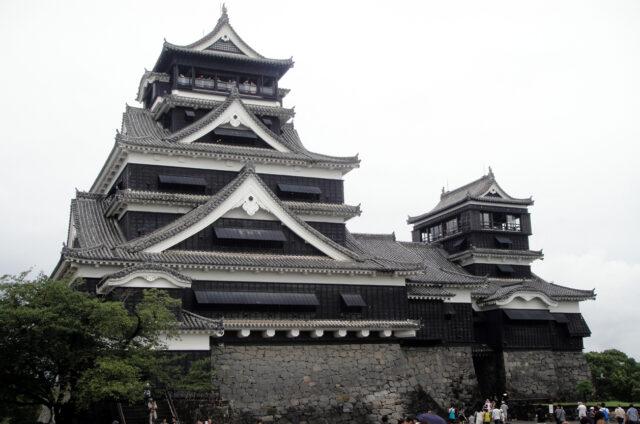 Hrad v Kumamotu, Kjúšú, Japonsko
