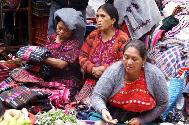 Indiánské komunity, San Juan, Guatemala