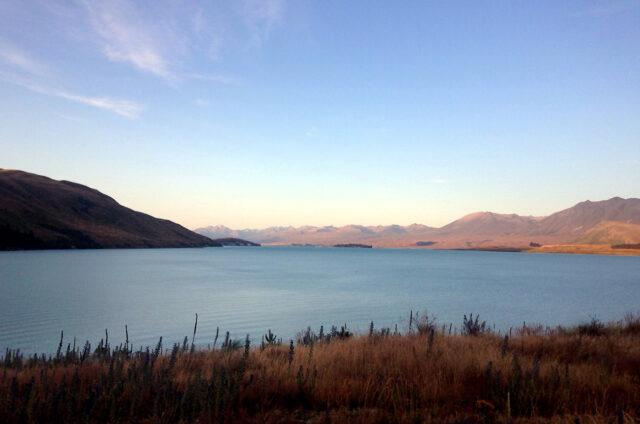 Jezero Tekapo, Jižní ostrov, Nový Zéland