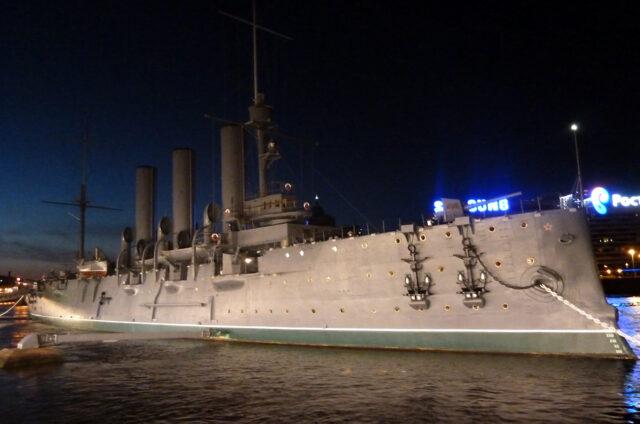 Křižník Aurora, Petrohrad, Rusko