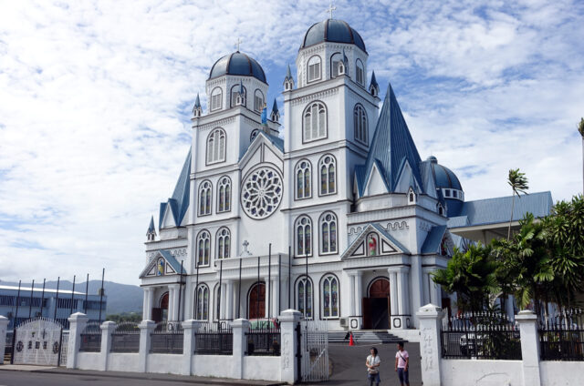 Katedrála v hlavním městě Apia, ostrov Upolu, Samoa