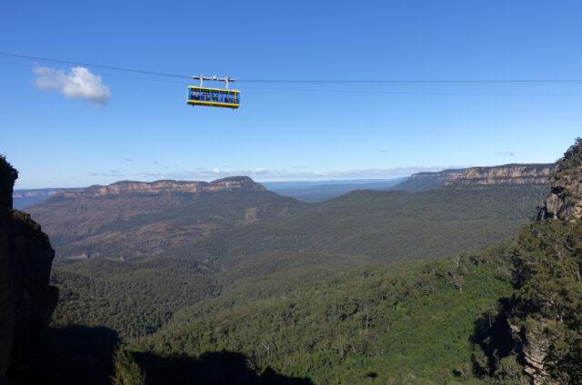 Katoomba, Modré hory, NSW, Austrálie