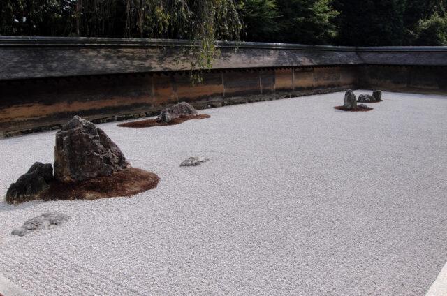 Kjóto, kamenná zahrada Rjóandži, Japonsko