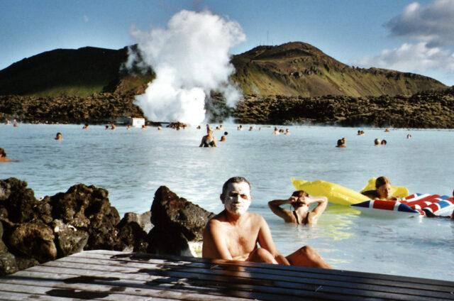 Koupání v Modré laguně, Island