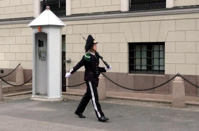 Královská stráž, Oslo, Norsko