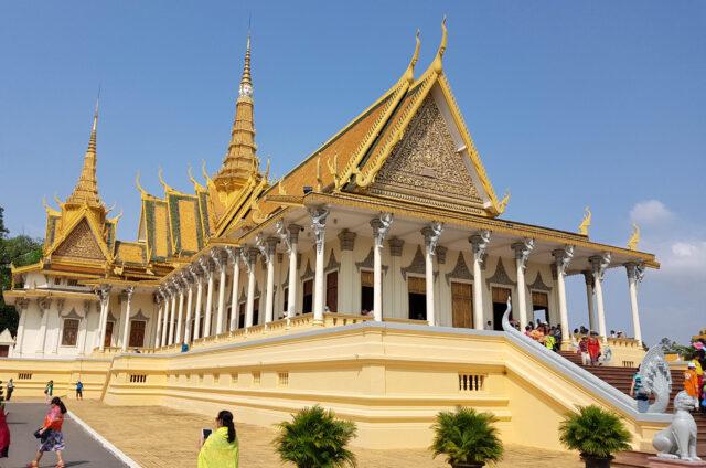 Královský palác, Phnompenh, Kambodža