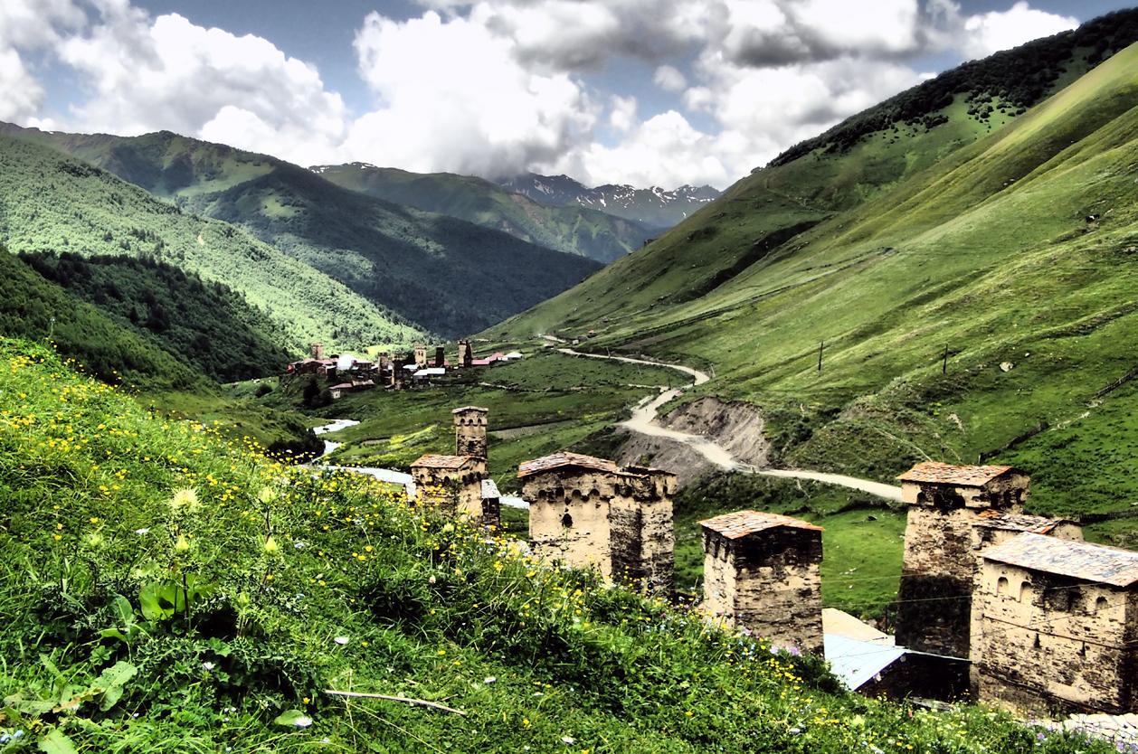 Krásné Ušguli, Svanetie, Gruzie