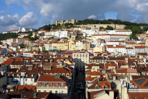 Lisabon a Castelo de Sao Jorge