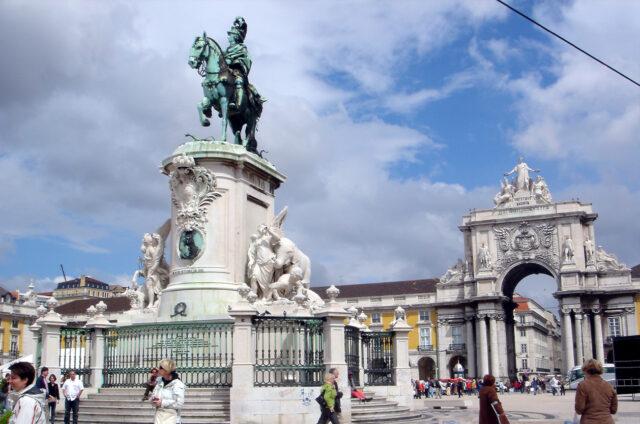 Monument Krále José I., Praca Comercio, Lisabon