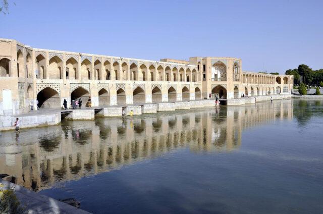 Most Khaju, Isfahán, Írán