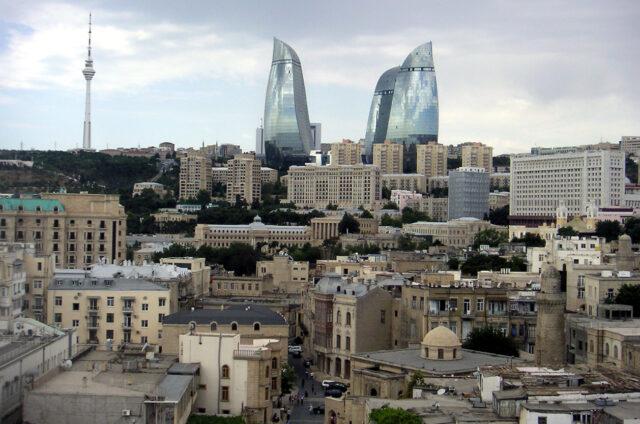 Mrakodrapy Flame Towers, Baku, Ázerbajdžán