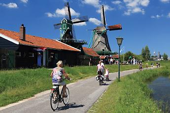 Skanzen mlýnů, Zaanse Schans, Holandsko
