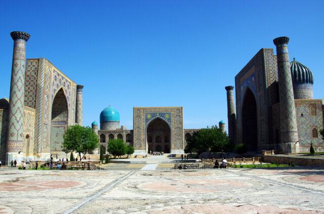 Náměstí Registán, Samarkand, Uzbekistán
