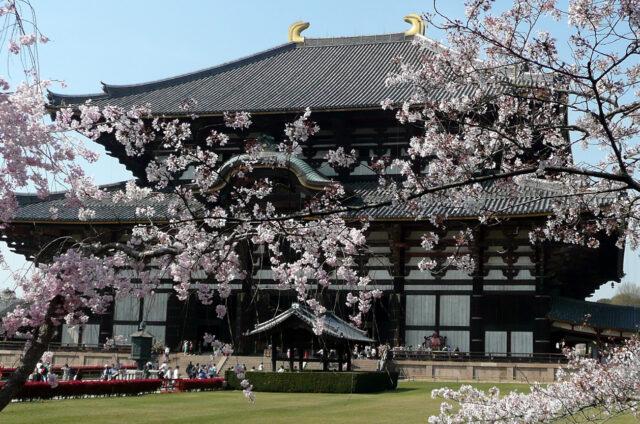 Nara, chrám Tódaidži, Japonsko