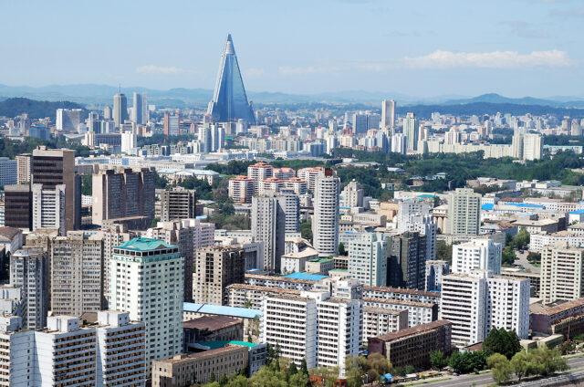 Nedokončený ikonický hotel, Pchjongjang, KLDR
