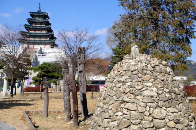 Ochranné totemy Jangseung, Korea