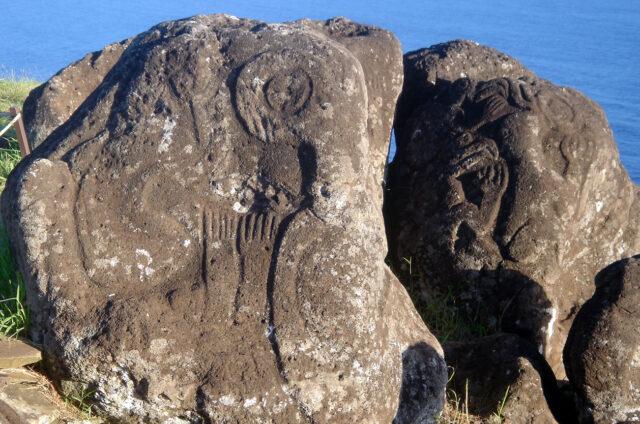 Orongo, petroglyfy s Ptačím mužem, Velikonoční ostrov