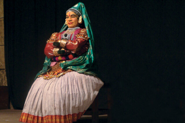 Představení tradičního Kathakali, Indie