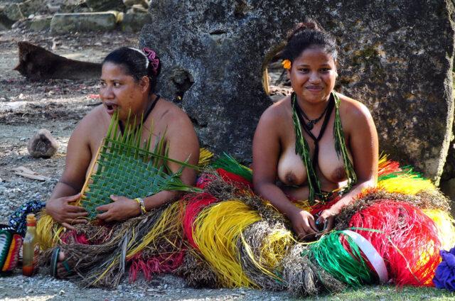 Původní Yapské ženy, Mikronésie