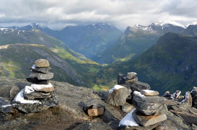 Panorama norských hor, Norsko